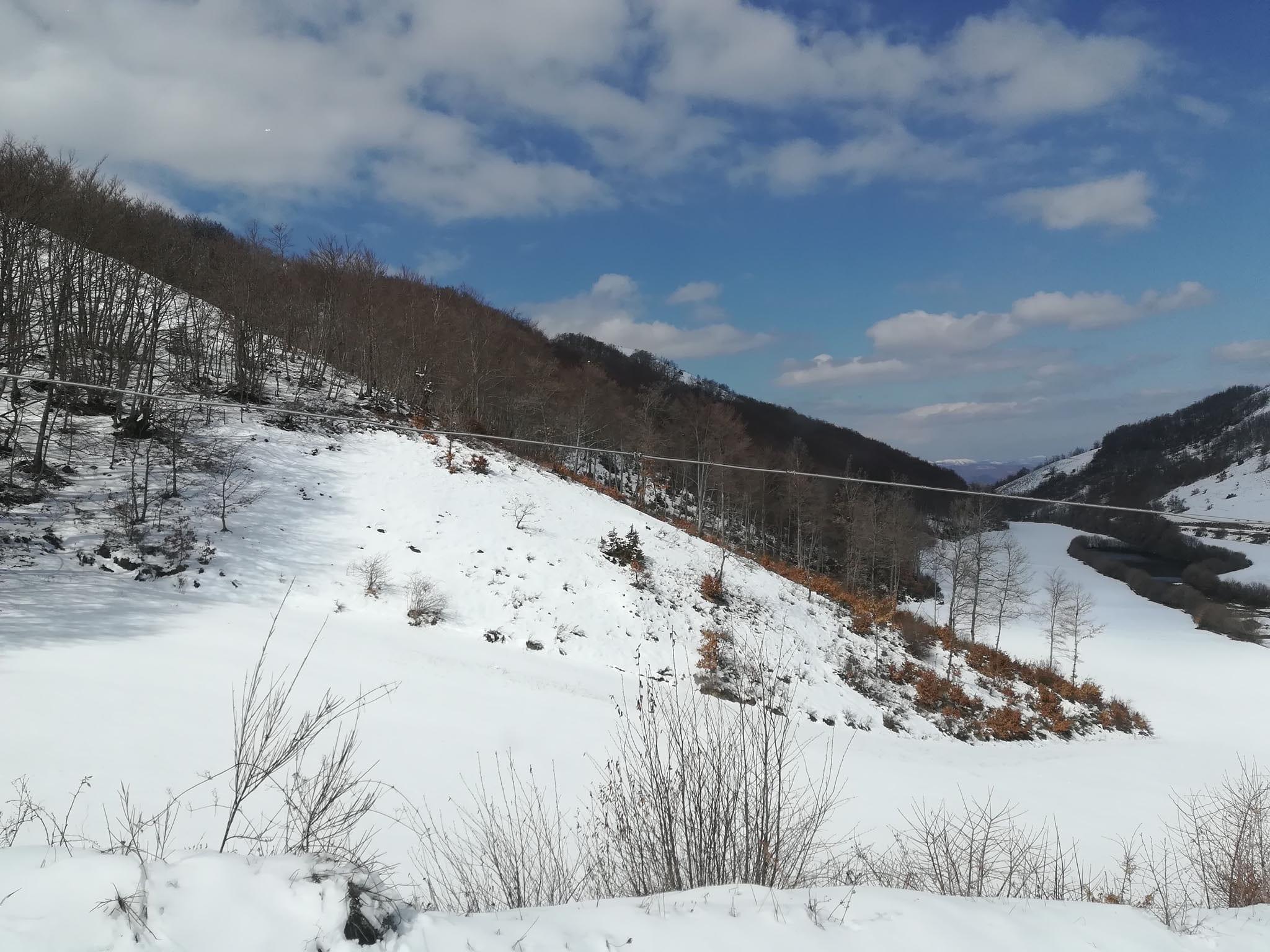paesaggio con neve